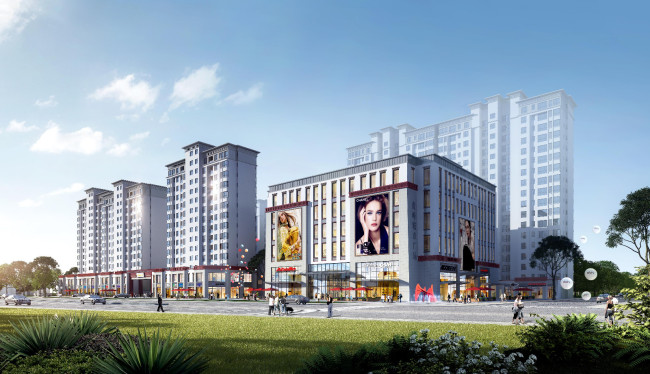 达孜虎峰城市广场正式开建